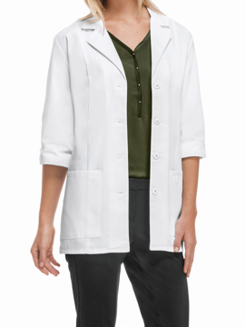 Picture of Cherokee Professional Whites Women's 3/4 Sleeve Lab Coat (Certainty®)