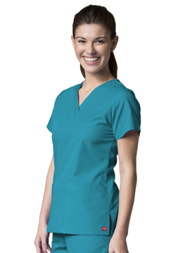 Picture of Maevn Red Panda Women's V-Neck Two Pocket Top