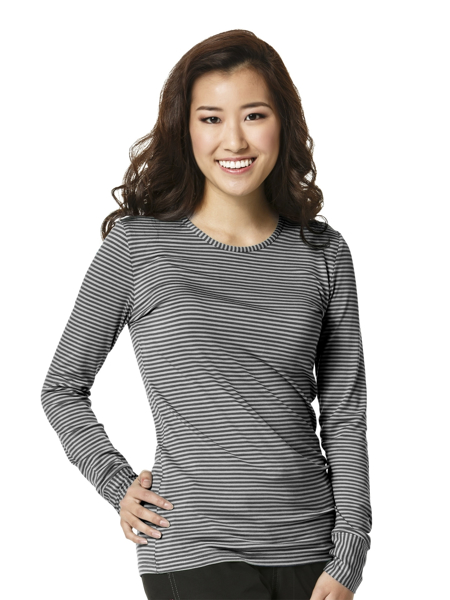 Picture of WonderWink Layers Long Sleeve Striped Tee