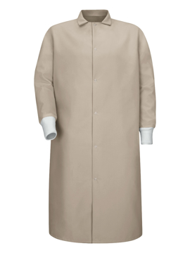 Picture of Red Kap Gripper-Front Pocketless Butcher Coat with Knit Cuffs