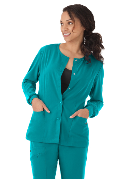 Picture of Jockey Classic Fit Women's Round-Neck Snap Front Jacket