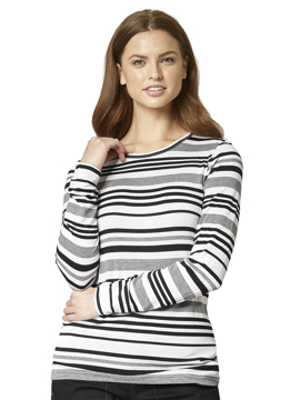 Picture of WonderWink Layers Women's Multi Striped Tee