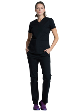 Picture of Vital Threads Women's Contemporary Fit V-Neck Top and Drawstring Pant Set