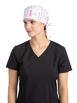 Picture of White Cross Printed Skull Cap