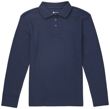 Picture of Classroom Uniforms Girls Long Sleeve Fitted Interlock Polo