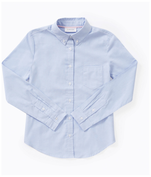 Picture of Classroom Uniforms Girls Long Sleeve Oxford Shirt