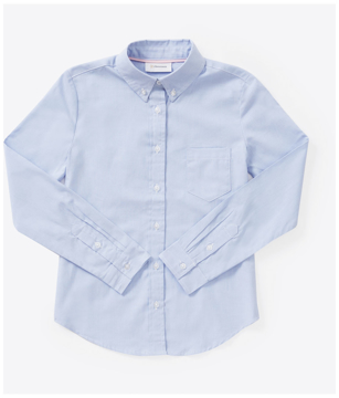 Picture of Classroom Uniforms Juniors Long Sleeve Oxford Shirt