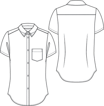 Picture of Classroom Uniforms Girls Short Sleeve Oxford Shirt