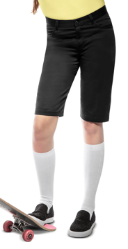 """Picture of Classroom Uniforms Juniors Stretch """"Matchstick"""" Shorts"""