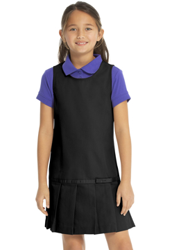Picture of Real School Uniforms Youth Drop Waist Jumper w/Ribbon Bow