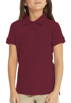 Picture of Real School Uniforms Youth Short Sleeve Fem-Fit Polo