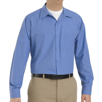 Picture of Red Kap Long Sleeve Industrial Stripe Work Shirt