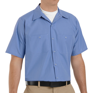 Picture of Red Kap Short Sleeve Industrial Stripe Work Shirt