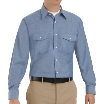 Picture of Red Kap Long Sleeve Deluxe Western Style Shirt