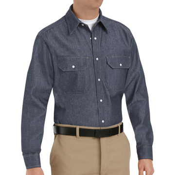 Picture of Red Kap Long Sleeve Deluxe Denim Shirt