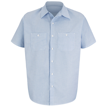 Picture of Red Kap Industrial Short Sleeve Stripe Work Shirt