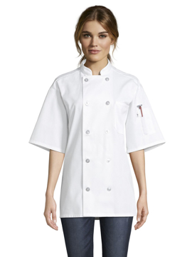 Picture of Uncommon Threads Unisex South Beach Chef Coat - White